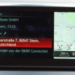 Empfangenes Ziel, das von der Smartphone-App ans BMW-Navi geschickt wurde.