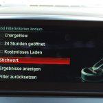 """Zahlungsmöglichkeiten als Filterkriterium bei Ladestationssuche. Nur verfügbar, wenn man Abonnent des """"BMW Connected Plus Package"""" ist."""