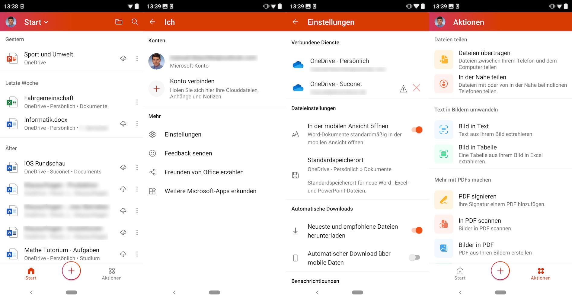 Die neue Office App für Android