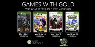 Die kostenlosen Games with Gold im Maerz 2020