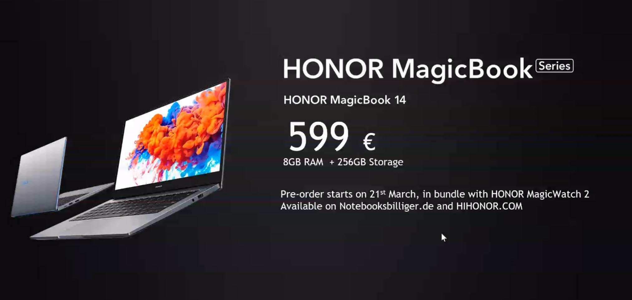 Honor MagicBook Aktion zum Verkaufsstart