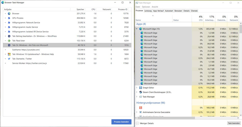 Microsoft Edge Task Manager