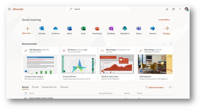 Office Launcher im Web