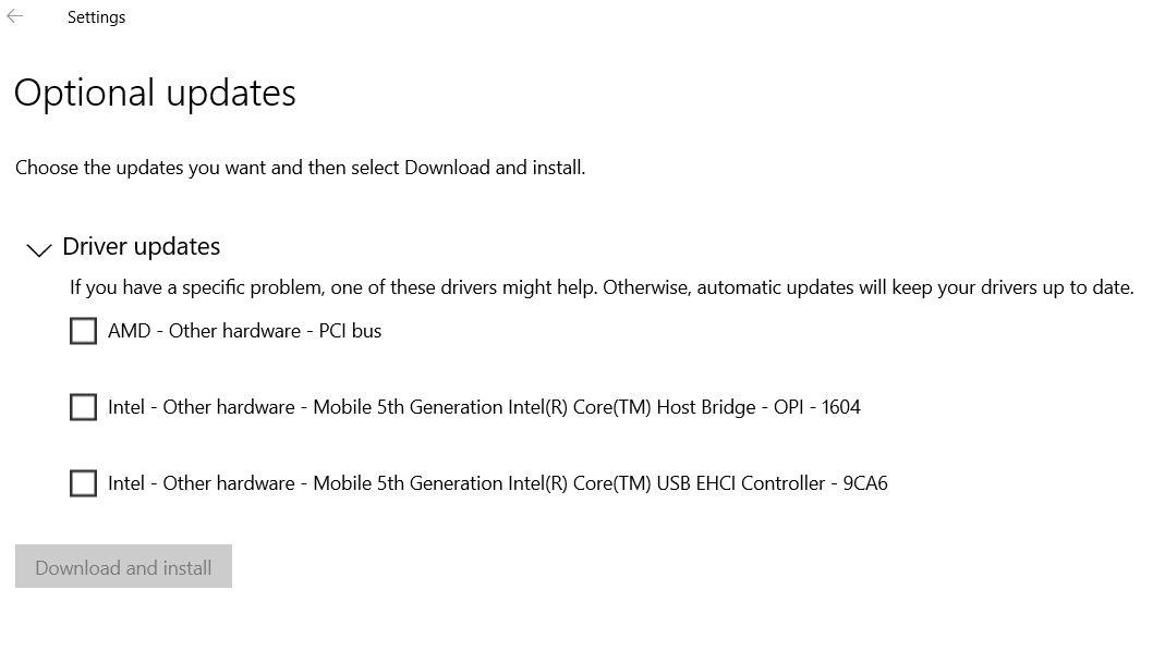 Neue Treiber kommen via Windows Update