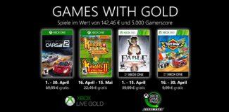 Titelbild Games with Gold im April 2020