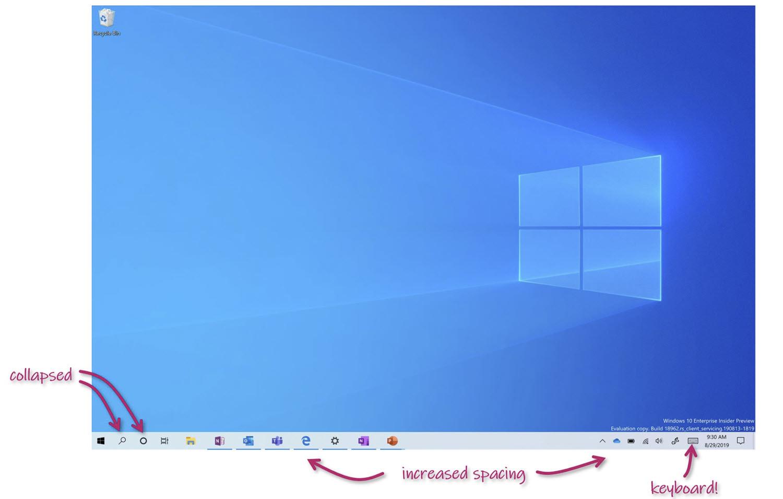 Microsoft testet diverse Optimierungen der Touchbedienung von Windows 10