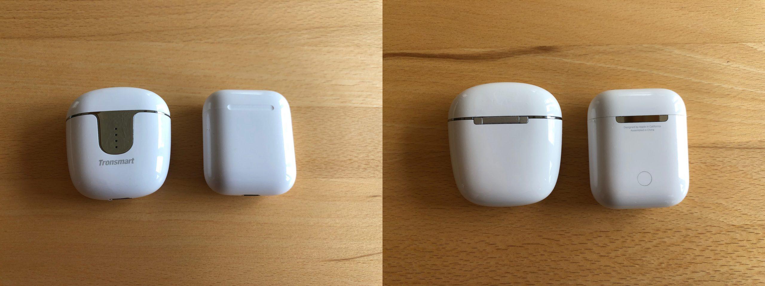 Tronsmart Onyx Ace und Apple Airpods im Vergleich