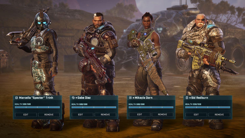 Die Kaempfer in Gears Tactics