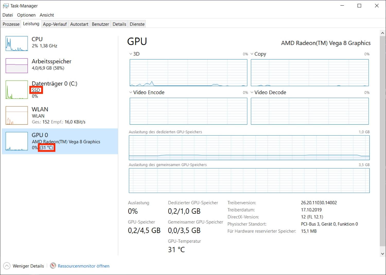 Windows 10 Mai Update: Neue Informationen im Task Manager