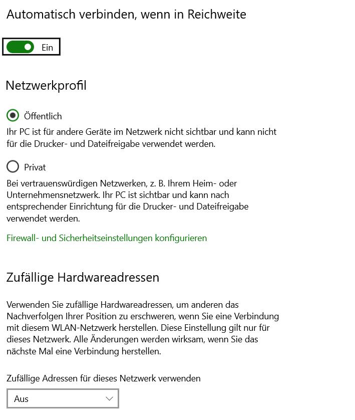 Neue WLAN-Einstellungen im Windows 10 Mai Update