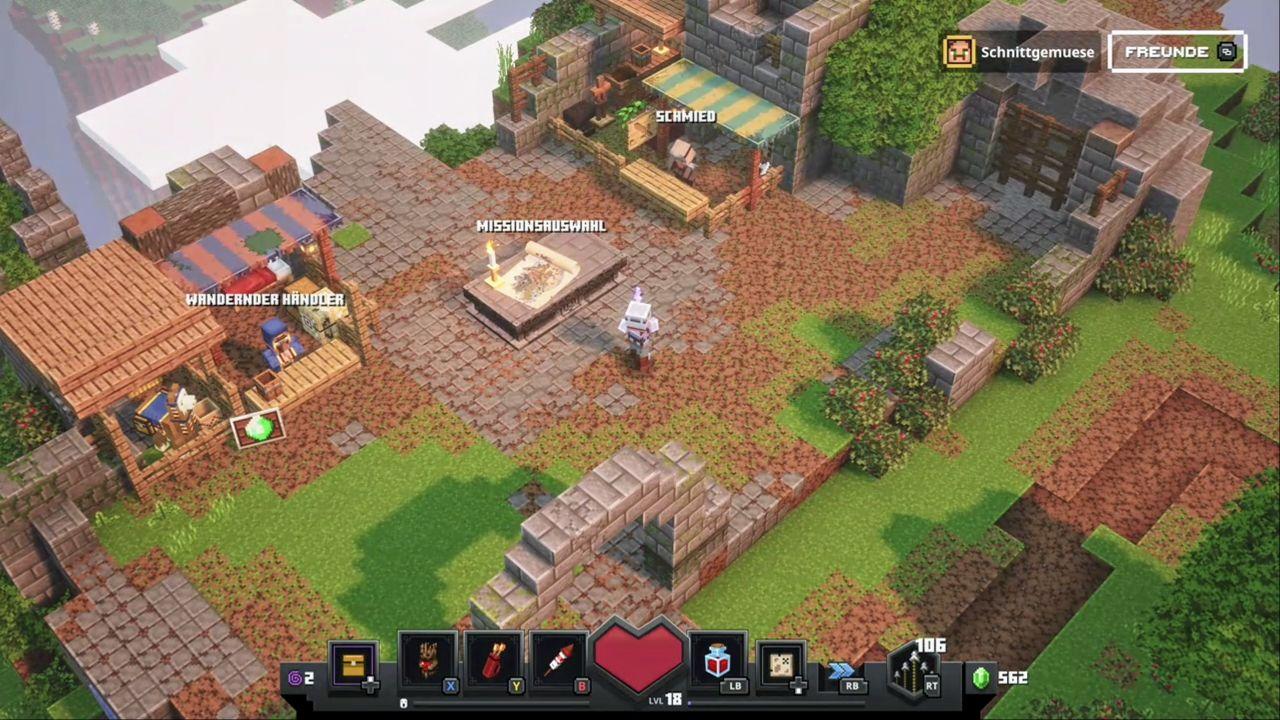 Map in Minecraft Dungeons