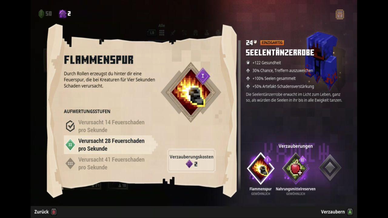 Waffen und Ausrüstungsgegenstände in Minecraft Dungeons