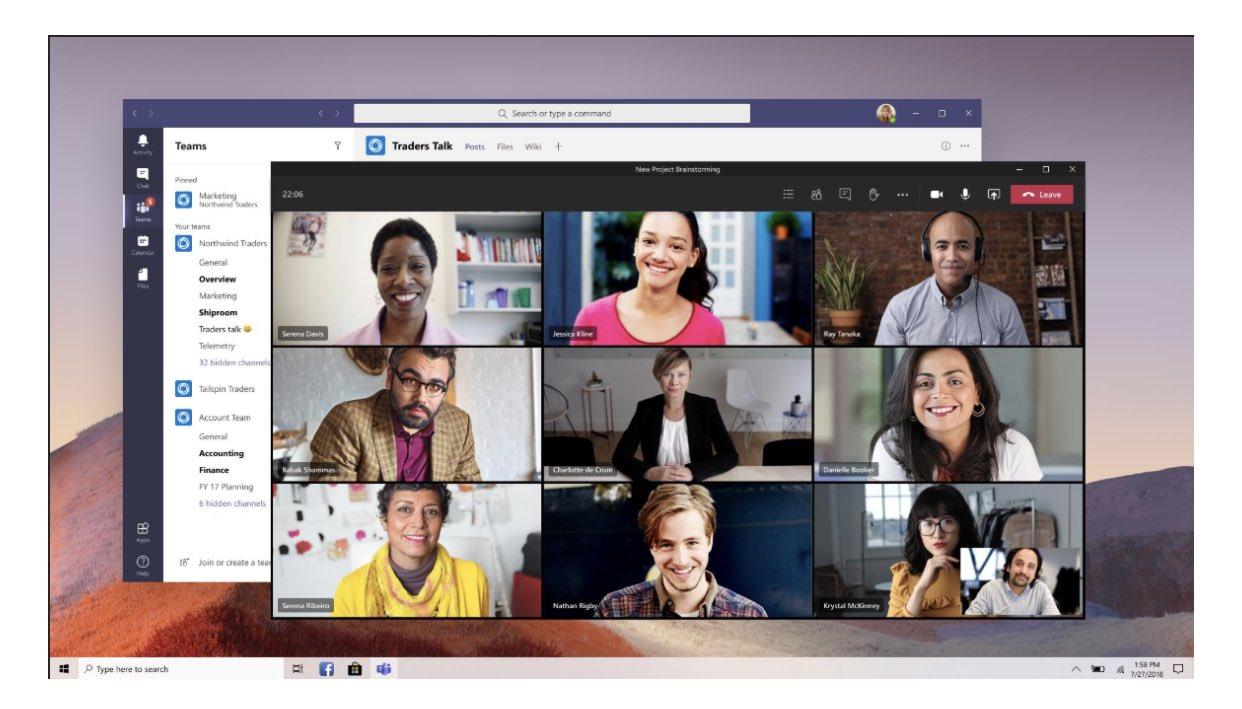 Neue Fensteransicht in Microsoft Teams