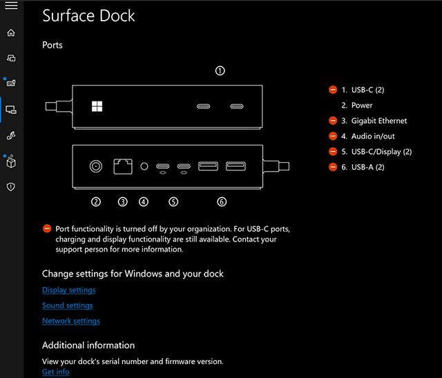 Status der Ports in der Surface App