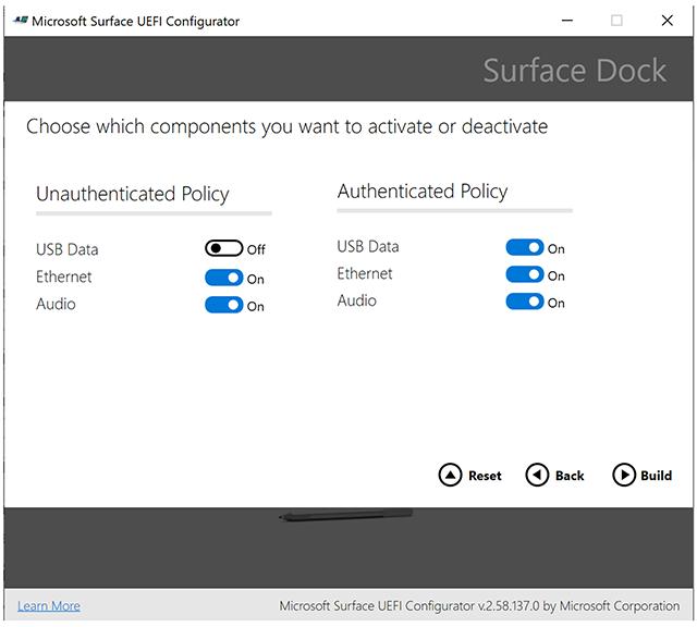 Surface Dock UEFI Konfigurator