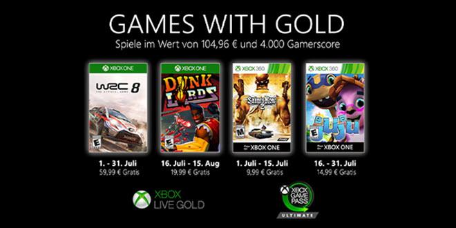 Games with Gold im Juli 2020: WRC 8 FIA World Rally Championship und drei weitere Spiele