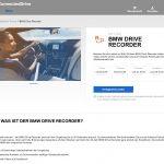 Bestellung des BMW Drive Recorder im Connecteddrive-Store