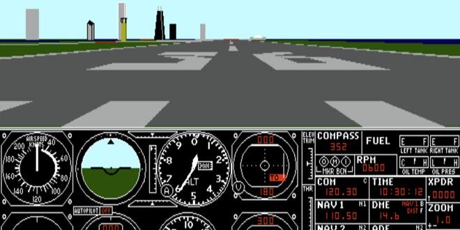 Nostalgie pur: Ur-Versionen des Microsoft Flight Simulator als Browsergame