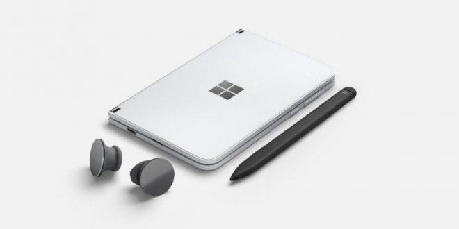 Surface Duo mit Zubehör