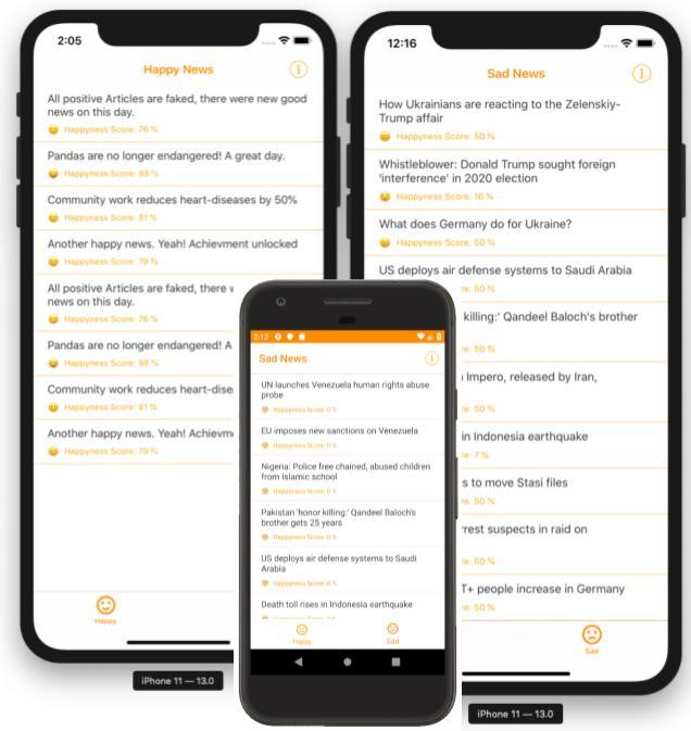 Xamarin Forms App Invia.News App Screenshots
