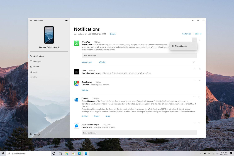 Ihr Smartphone App für Windows 10