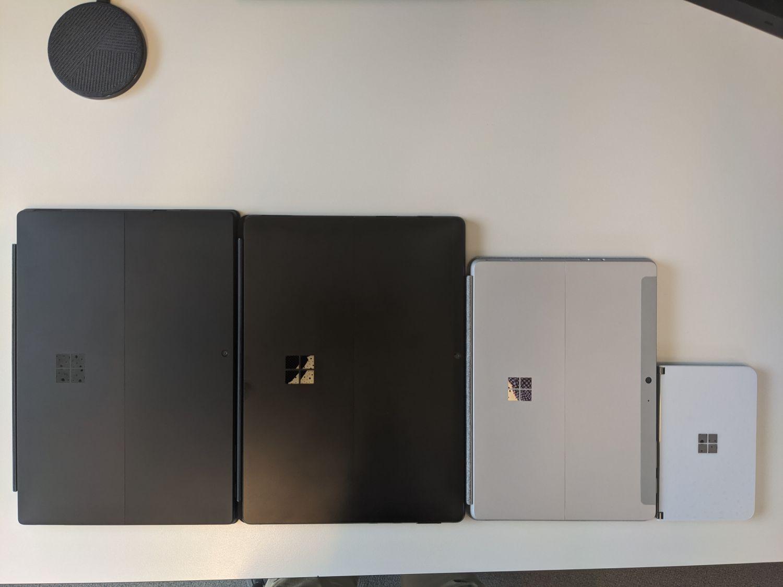 Surfacec Duo im Vergleich mit anderen Surface Geräten