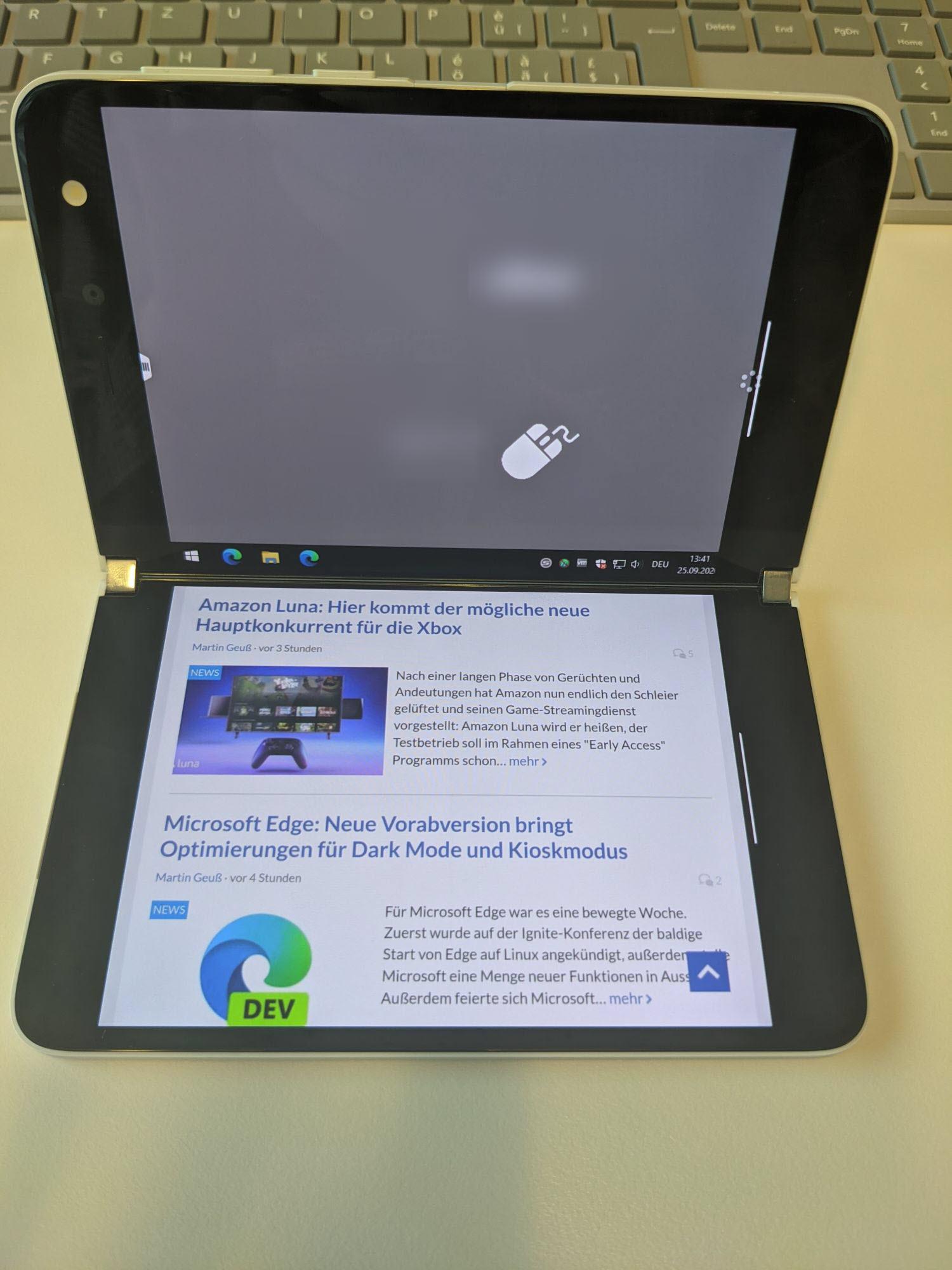 Surface Duo -eine App je Bildschirm