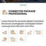 """Kosten in Höhe von 199 Euro pro Jahr nach Testzeitraum (3 Jahre ab Erstzulassung) für Online-Services namens """"BMW Connected Package Professional"""""""