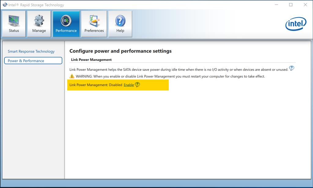Intel Rapid Storage Software
