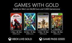 Games with Gold: Die kostenlosen Spiele im November