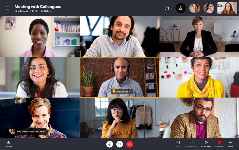 Hand heben in Skype