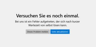 Microsoft Store Fehlermeldung
