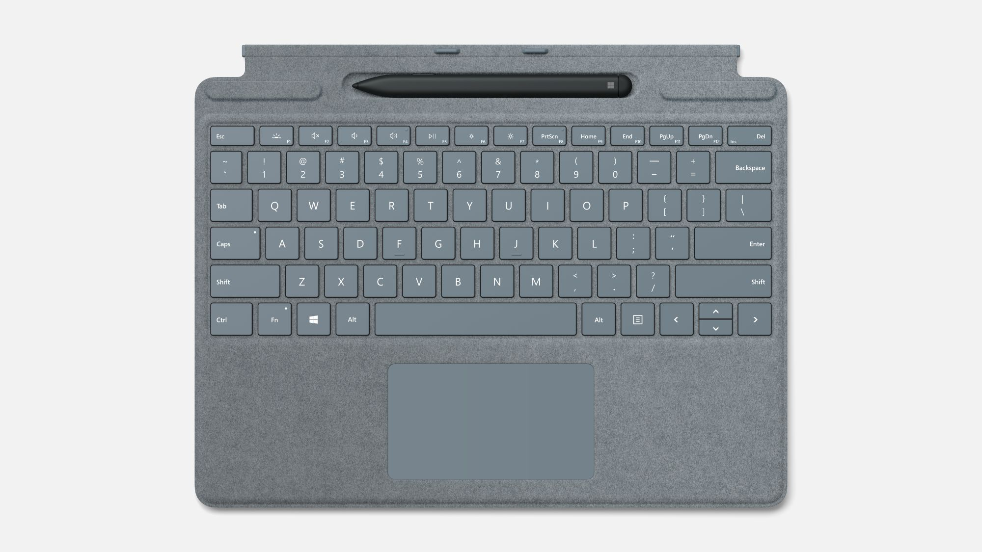 Surface Pro X Type Cover in Ice Blue
