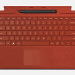 Surface Pro X Type Cover in Poppy Red