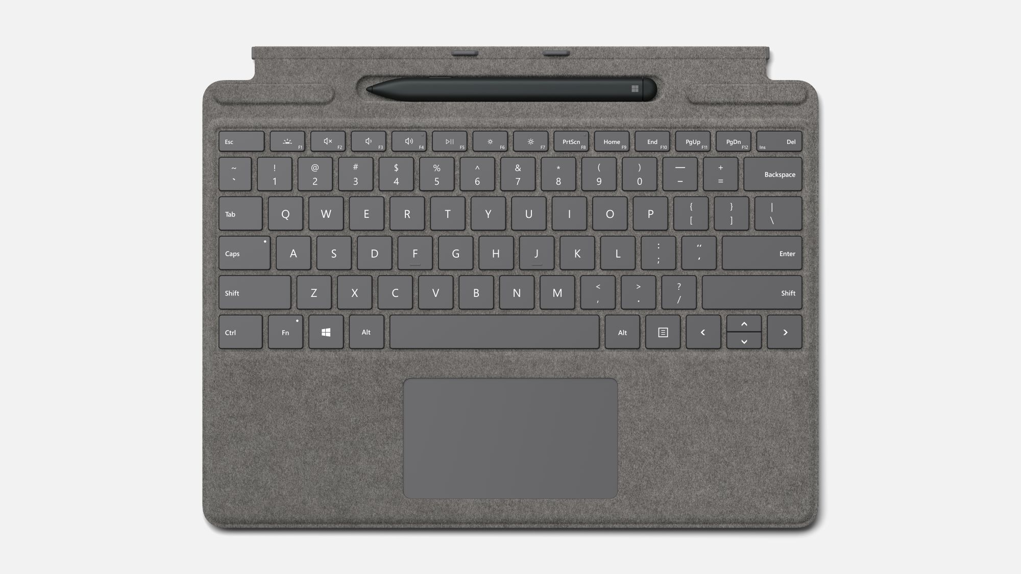Surface Pro X Type Cover in Platin