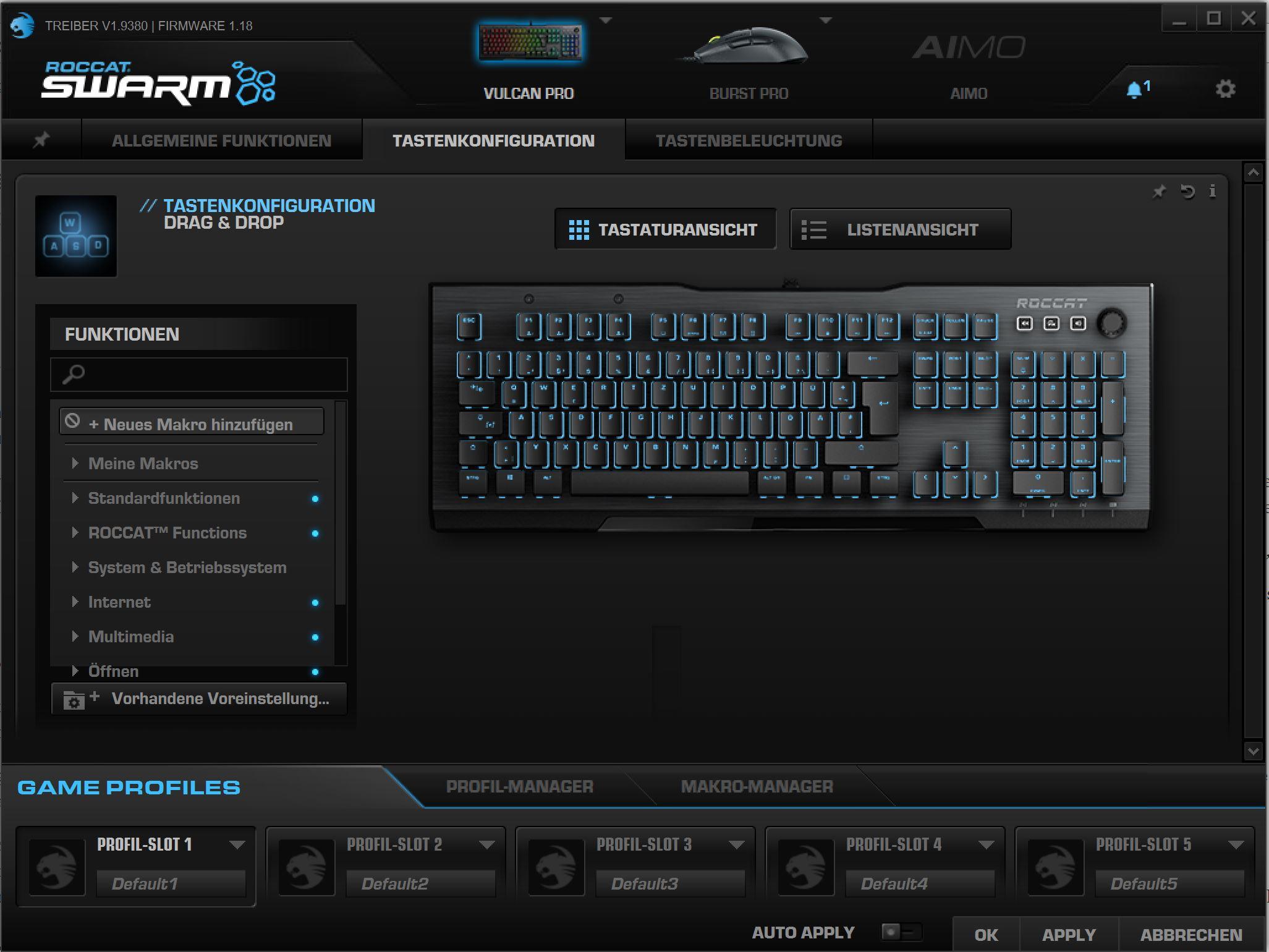 Roccat Swarm RGB Software