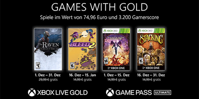Games with Gold im Dezember 2020