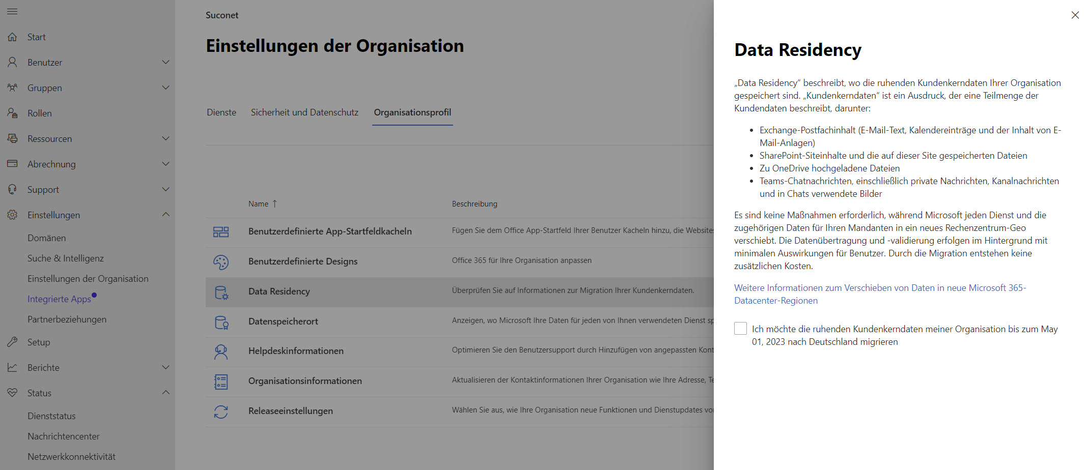 Office 365 Datenumzug in deutsche Rechenzentren