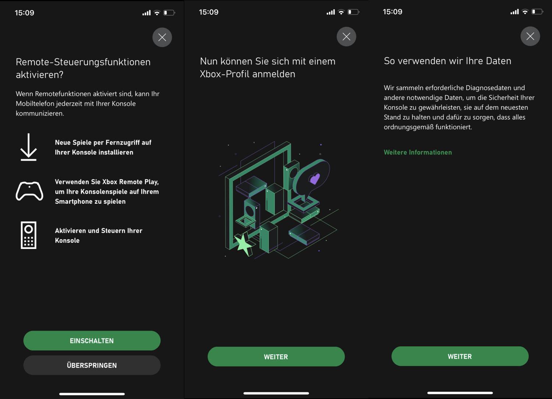 Einrichtung der Xbox Konsole mit der mobilen Xbox App