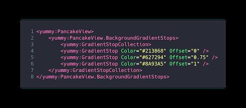 Code Snippet XAML Verlaufshintergrund