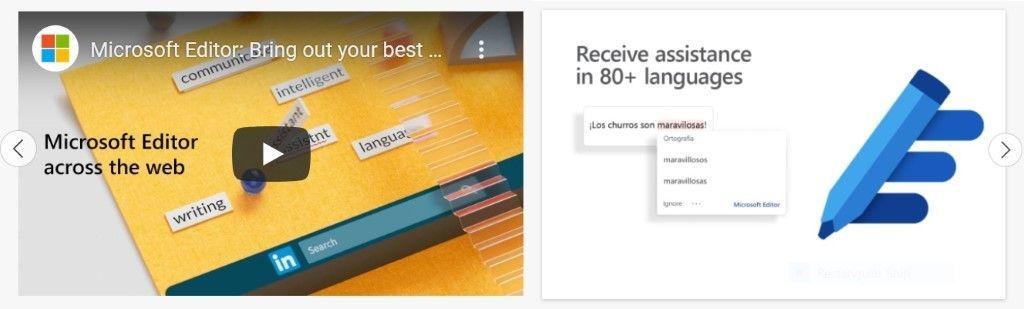 Microsoft Edge AddOn Store: Videos in der Beschreibung