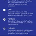 Notwendige Berechtigung zum Sammeln und Übermitteln von Daten bei Android Auto (Quelle: Dr. Windows).