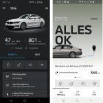 """Links ist die """"alte"""" Smartphone-App BMW Connected zu sehen (mit dem BMW 330e) und rechts die """"neue"""" Smartphone-App myBMW mit dem BMW 530e (Quelle: Dr. Windows)."""