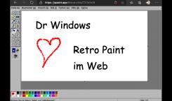 Kurz erwähnt: Ab in die Kindheit mit MS Paint im Browser