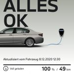 MyBMW-Smartphone-App zeigt Fahrdaten zum BMW 530e an.