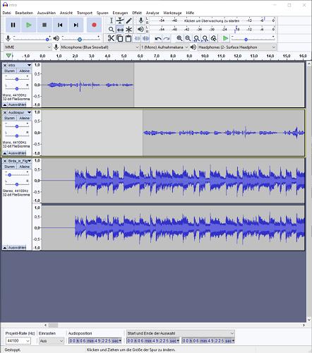 Podcast Audacity auf Windows 10