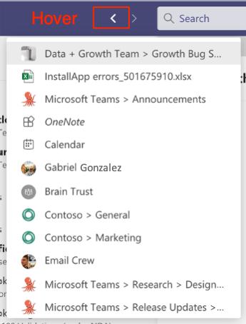 Verlauf in Microsoft Teams