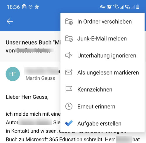 To Do Verknüpfung in Outlook