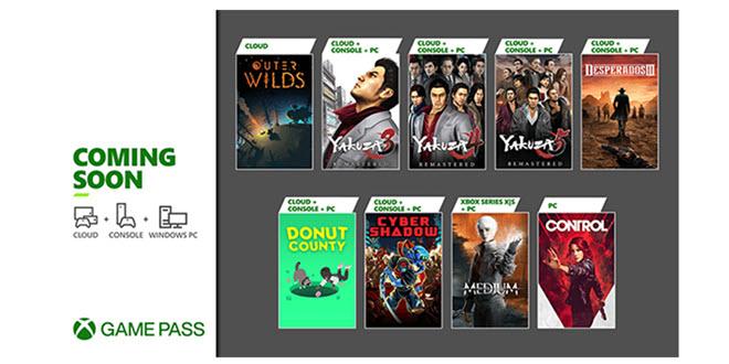Xbox Game Pass: Control, Yakuza Remastered und weitere Titel noch im Januar