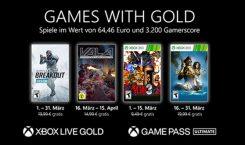 Games with Gold für März 2021 angekündigt